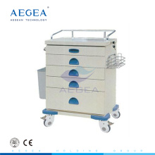 AG-AT020 price for emergency crash hospital trolley cart two with cross brakes